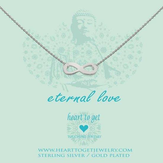 Heart to Get - Ketting met hanger - Zilver - Eternal love
