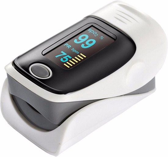 RRJ Oximeter - Hartslagmeter - Saturatiemeter - Oximeter Pulse Grijs