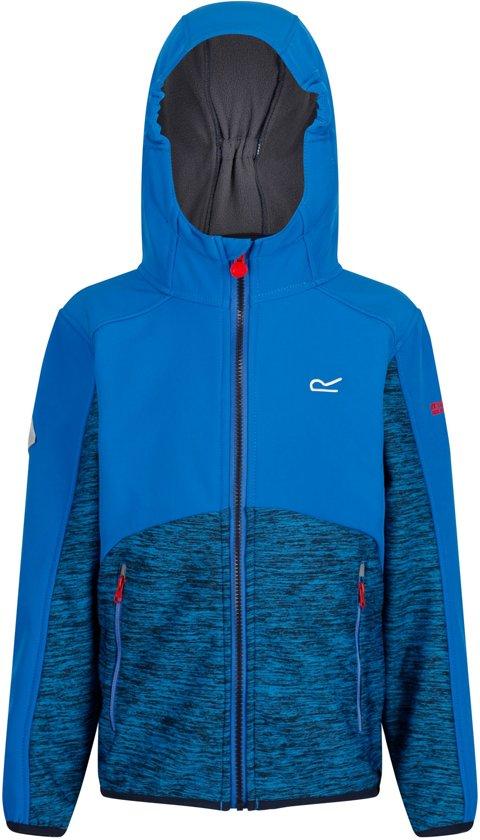 Regatta Bracknell Softshell  Outdoorjas - Maat 152  - Unisex - blauw