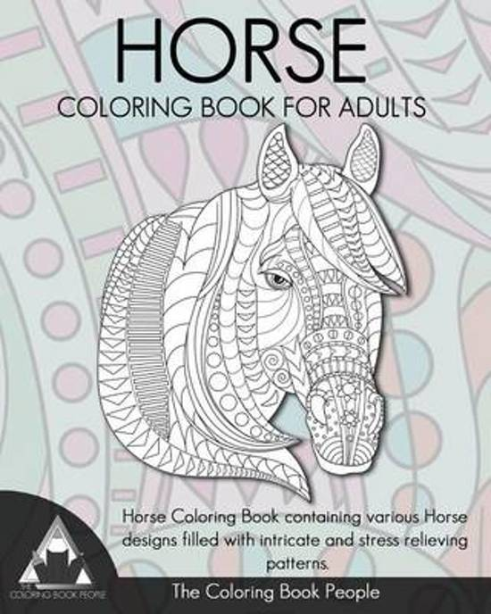 Bol Com Horse Coloring Book For Adults 9781539373964 The