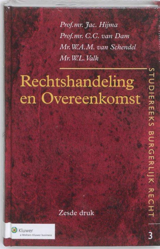 Boek cover Rechtshandeling en Overeenkomst van Jac. Hijma (Hardcover)