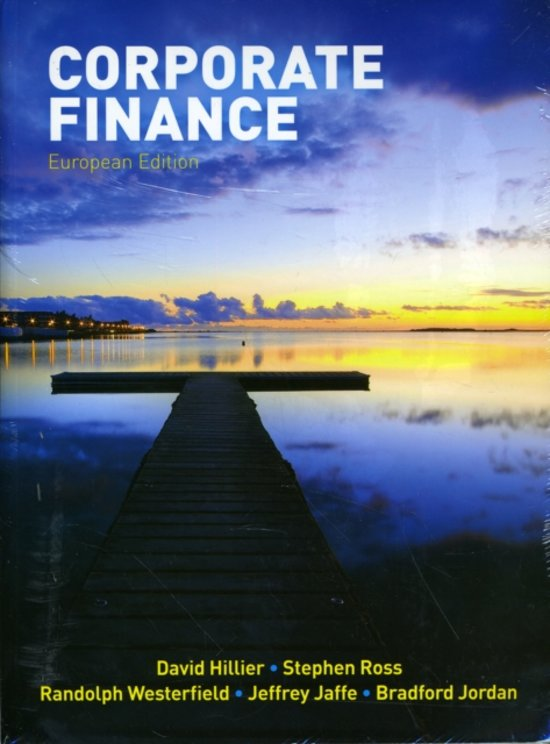 Corporate Finance (European Edition)