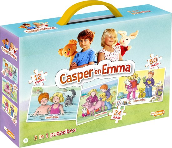 Casper en Emma 3 in 1 Puzzelbox - Kinderpuzzel