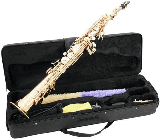 DIMAVERY Soprano Saxofoon - Goud - SP-10 - Inclusief koffer en accessoires
