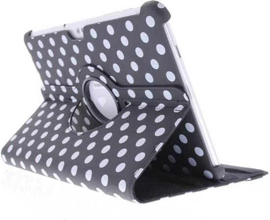 Couverture Noire À Pois Rotation À 360 ° Pour Samsung Galaxy Tab 9.6 E 3hWObwf