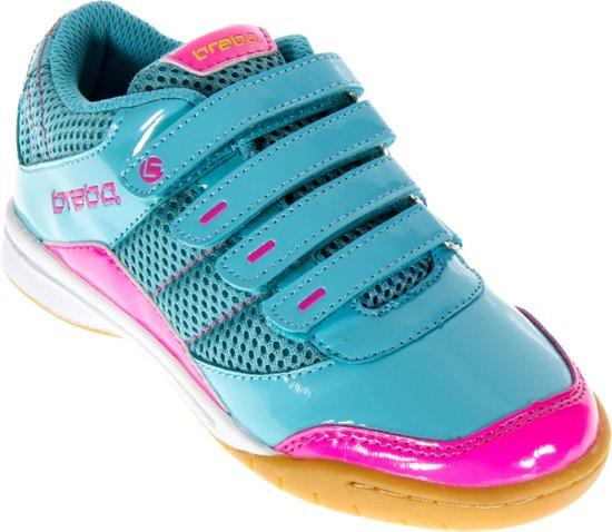 Brabo Intérieur - Cuir Intérieur De Chaussures De Hockey - Junior - Bleu, Rose, Citron Vert - Taille 31