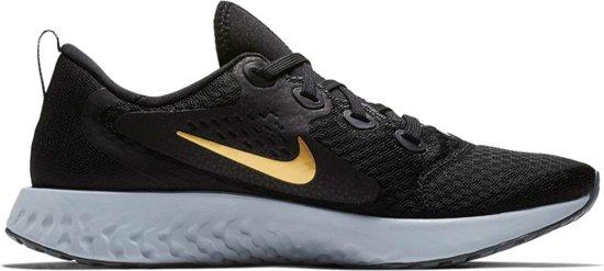 Nike Rebel React Hardloopschoenen Dames Sportschoenen - Maat 38 - Vrouwen -  zwart/grijs/goud
