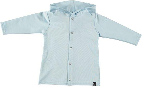 Capuchon vest licht blauw (lang) 98/104