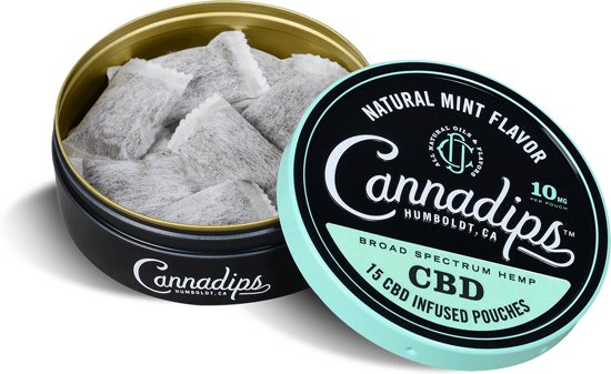 Cannadips CBD olie 16% Natural Mint 10 mg - 15  pouches