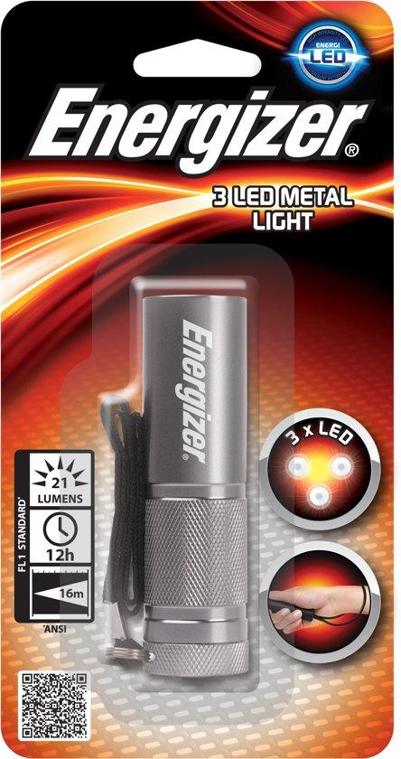 Energizer LED Metal Torch Zaklamp LED Grijs