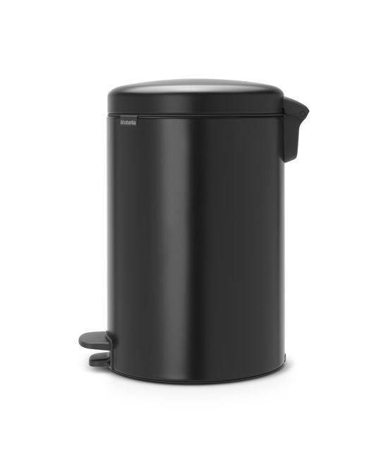Brabantia NewIcon Pedaalemmer 20 Liter Mat Zwart
