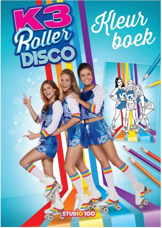 Kleurplaten K3 Kan Het.K3 Kleurboek Roller Disco