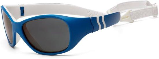 b00cf3b6253998 Real Kids Shades UV zonnebril Baby Adventure - Blauw Wit - Maat Onesize