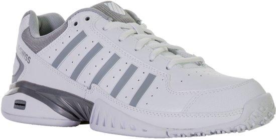 K-Swiss Receiver IV Omni Tennisschoen Dames Tennisschoenen - Maat 39.5 - Vrouwen - wit/grijs