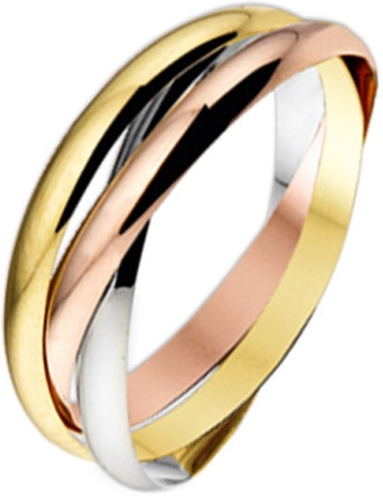 Huiscollectie 4300454 Tricolor gouden ring 2.5 mm