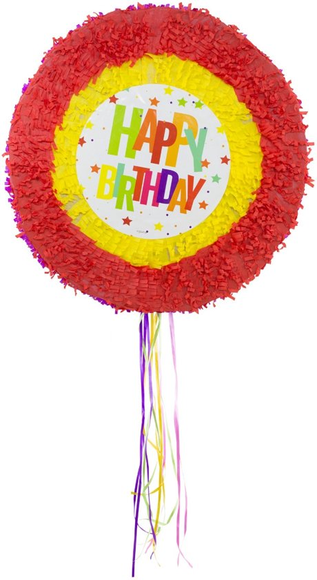 Pinata Happy Birthday Sterren - 48cm