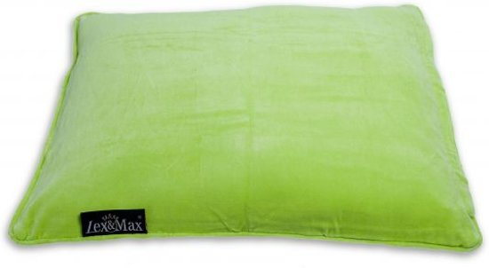 Lex & max emma kattenkussen -rechthoek  60x45cm lime
