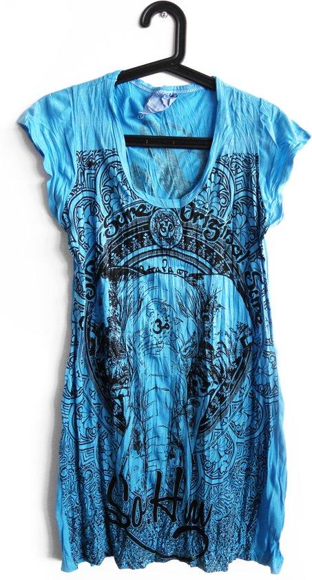 Ibiza boho jurk turquoise