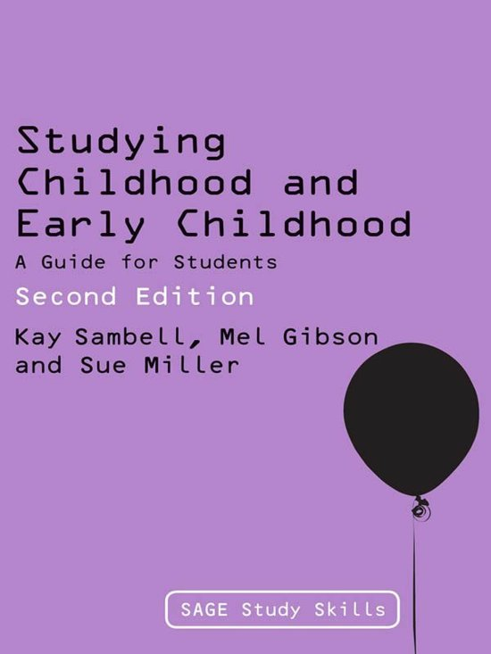 Studying Childhood and Early Childhood