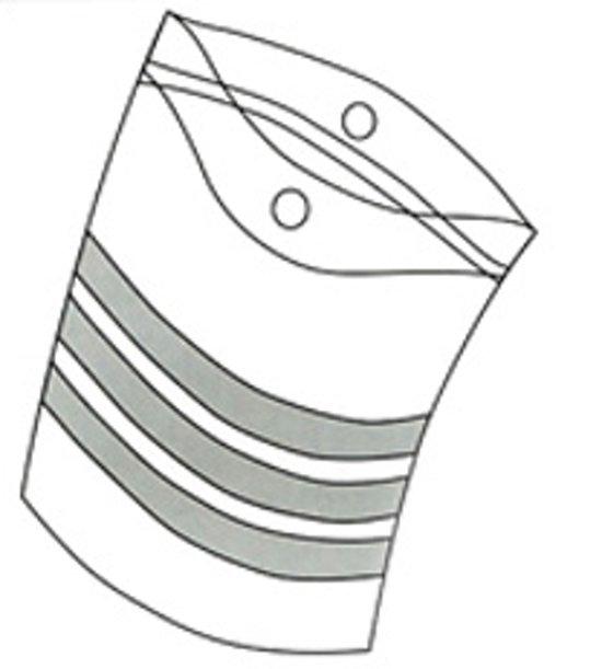 Gripzakken voedingsgeschikt en recycleerbaar 100 x 250 mm 100 stuks