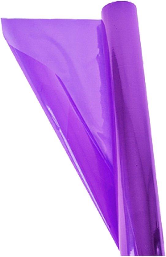 3 Rollen Transparante Folie Paars Inpakken Kado 70cm X 2mtr