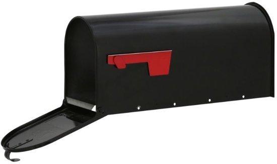 Amerikaanse brievenbus + Paal (zwart, staal, bundel)