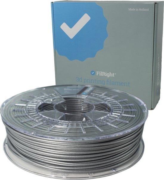 PLA+ Filament - Zilver Metallic - 2.85mm - 750 g - FilRight Pro