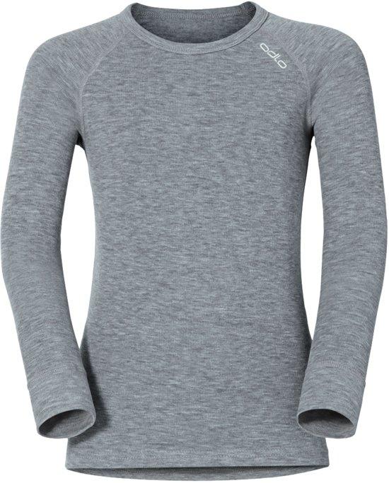 Odlo Bl Top Crew Neck L/S Active Warm Kinderen Thermoshirt - Grey Melange - Maat 140