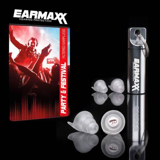 Earmaxx Hearing Protection- Party & Festival-incl. 4 oorplugs, 2x medium en 2x large-Partyplug-Oordoppen-gehoorbescherming-Muziek-Feesten-Clubbing-Zacht Materiaal-Oordopjes-Gehoorschade