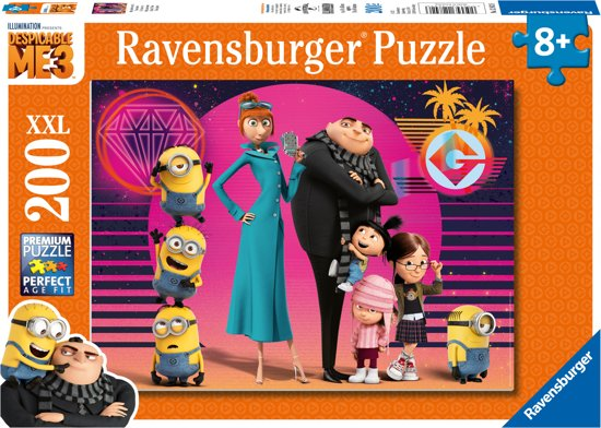 Ravensburger Despicable me 3 Allemaal samen - legpuzzel - 200 stukjes