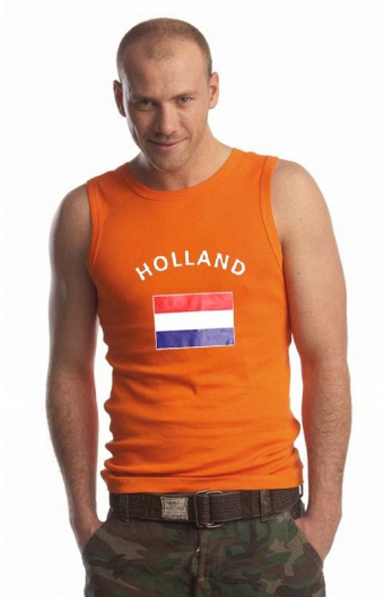 Oranje heren singlet Holland M
