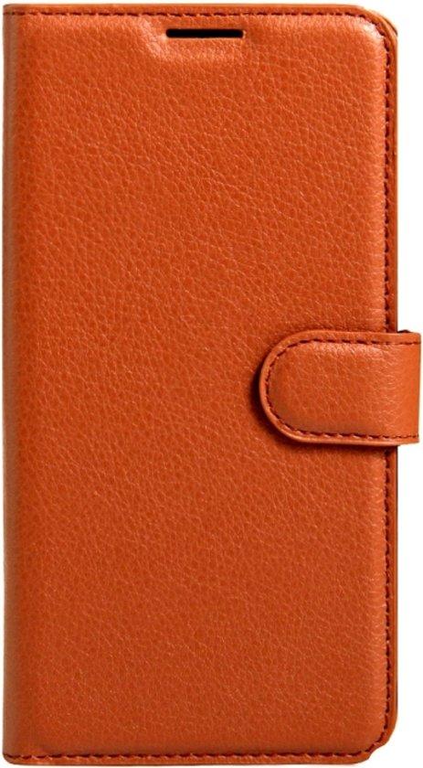 Let op type!! Voor Nokia 6 Litchi structuur horizontaal flip lederen hoesje met Magnetic sluiting & houder & opbergruimte voor pinpassen & portemonnee (bruin)