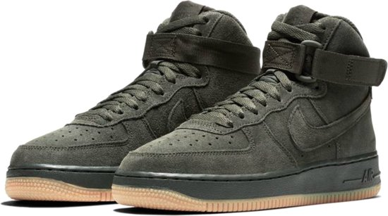 Force Mannen '07 Nike Suede Junior Maat Groen 1 Air 5 Lv8 Sneakers High 37 T7xx5Unq