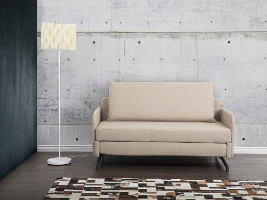 Bol slaapbank beige bank bedbank sofa met slaapfunctie