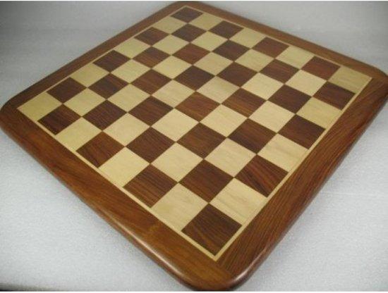 Afbeelding van het spel Luxe Sheesham houten schaakbord - 53 x 53 cm