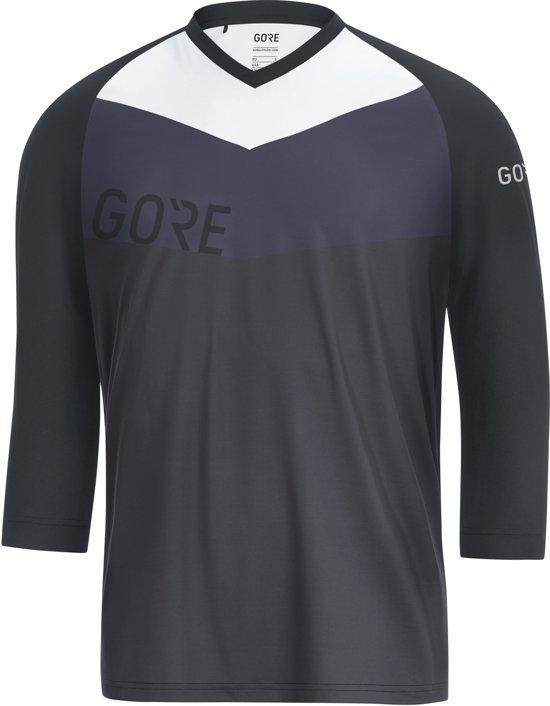 GORE WEAR C5 All Mountain Fietsshirt korte mouwen Heren, terra grey/black Maat XL