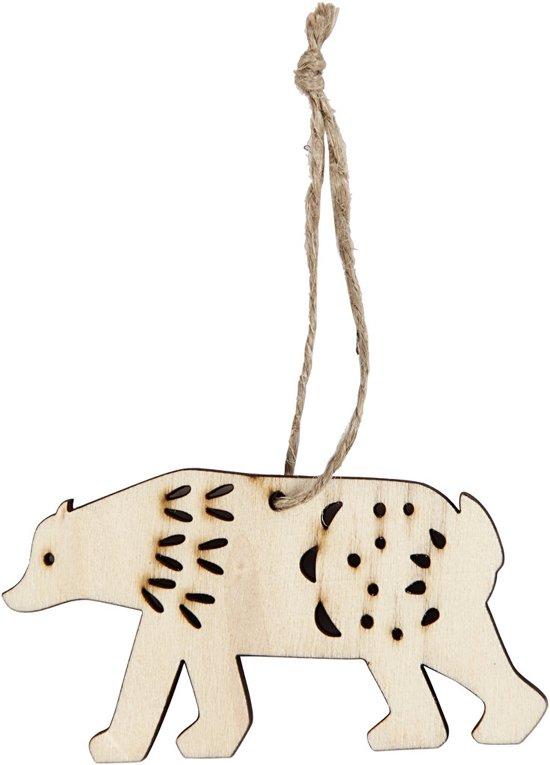 IJsbeer, ijsbeer, h: 4,5 cm, b: 7,5 cm, triplex, 4stuks, diepte 0,5 cm