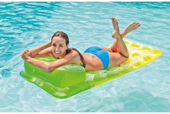 Intex Luchtbed 188 X 71 cm | zwembad | Groen