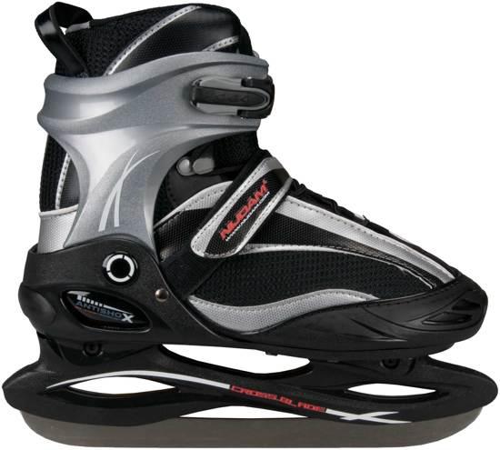 Nijdam 3360 Ijshockeyschaats - Semi-Softboot - Grijs/Zwart/Rood - Maat 39