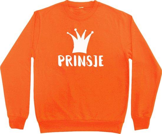 Oranje sweater Koningsdag | Prinsje | Maat 122-128