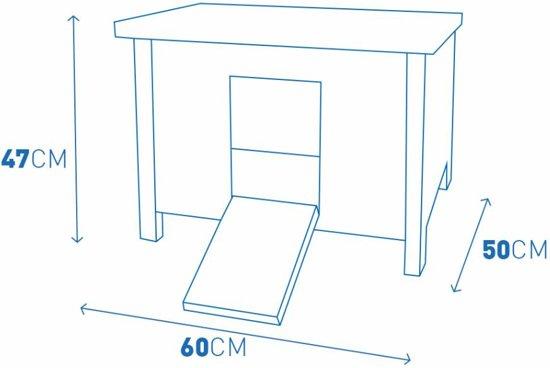 Duvo+ Schuilhok Howie cottage - Wit - 60 x 50 x 47cm