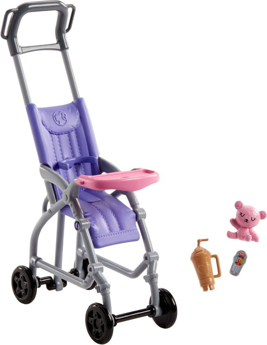 Barbie Babysitter Wandelwagen Set