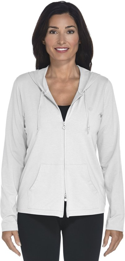 abd1a1247ab119 Coolibar UV hoodie Dames - Wit - Maat 44