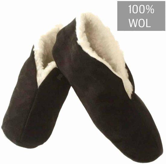 spaanse sloffen zwart 100% wollen voering 46