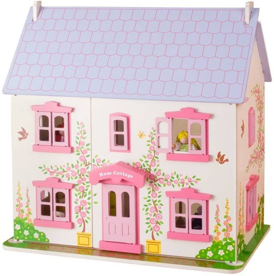 BigJigs houten poppenhuis Rose Cottage
