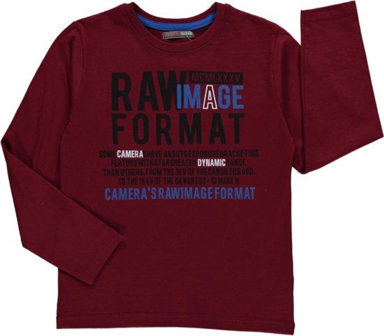 Losan Jongens Shirt Rood met print - g41 - Maat 128