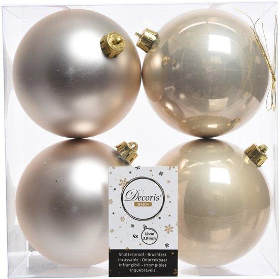 Bol Com Onbreekbare Champagne Kleur Kerstballen 10 Cm 8 Stuks