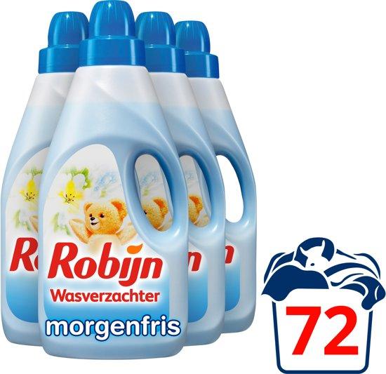 Robijn Morgenfris Wasverzachter - 72 wasbeurten - 4 x 2 l