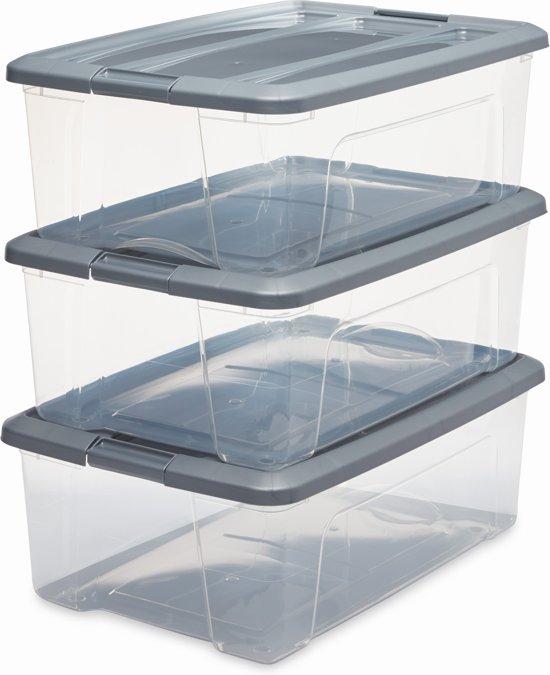 bol | iris new topbox opbergbox - 30 l - kunststof - transparant