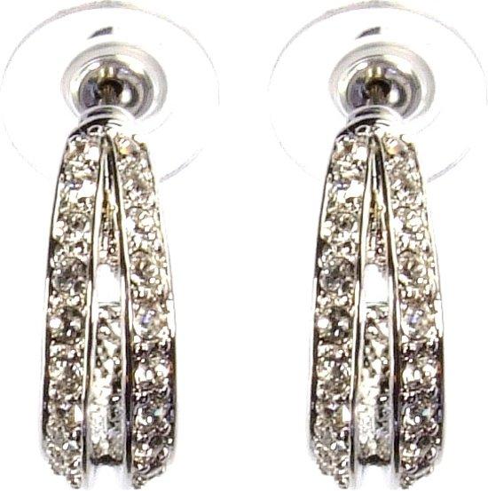 Traveller oorsteker - met Swarovski Crystal - #145421